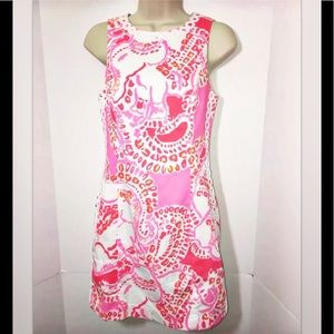 Lilly Pulitzer 0 Coral Pink Mila Shift Dress $178